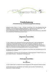 Friedhofsatzung - Gemeinde Oberstenfeld