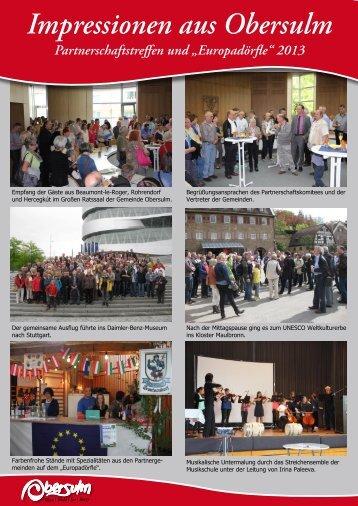 """Europadörfle"" 2013 Format: PDF, Größe - Gemeinde Obersulm"