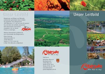 Unser Leitbild Unser Leitbild - Gemeinde Obersulm