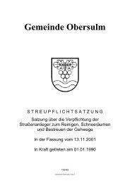 Streupflichtsatzung Satzung über die Verpflichtung der ...