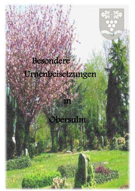 """""""Besondere Urnenbeisetzungen in Obersulm"""" Format: PDF, Größe"""