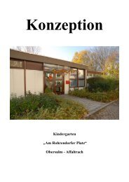 "Kindergarten ""Am Rohrendorfer Platz"" Obersulm - Affaltrach"