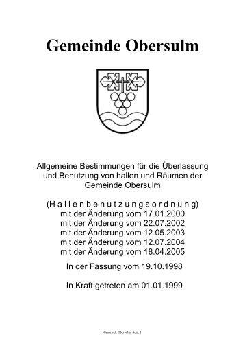und Sporthallen Format: PDF, Größe - Gemeinde Obersulm