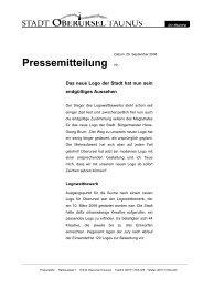 Pressemitteilung Nr.: - Stadt Oberursel