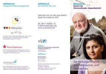 JUSTAment Die Bildungsinitiative zum Mitmachen ... - IGS Stierstadt
