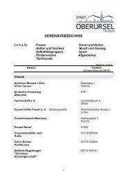 Vereinsverzeichnis.pdf, Seiten 1-18 - Stadt Oberursel