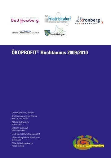 ÖKOPROFIT® Hochtaunus 2009/2010 - Bad Homburg
