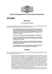OVG 1 B 162/11 - Oberverwaltungsgericht Bremen