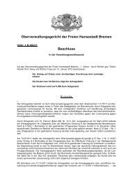 Beschluss vom 12.01.2012 - Oberverwaltungsgericht Bremen