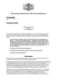 OVG S2 A 317/06 - Oberverwaltungsgericht Bremen
