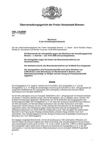 Oberverwaltungsgericht Bremen