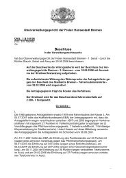 OVG: 1 B 167/06 (pdf, 30.2 KB) - Oberverwaltungsgericht Bremen