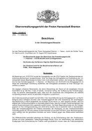 Beschluss (PDF) - Oberverwaltungsgericht Bremen