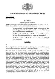 1 B 285/06 - Oberverwaltungsgericht Bremen