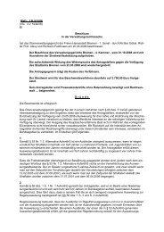 OVG: 1 B 512/08 - Oberverwaltungsgericht Bremen