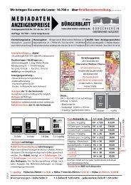 Zu den Mediadaten - Oberwiehre-Waldsee