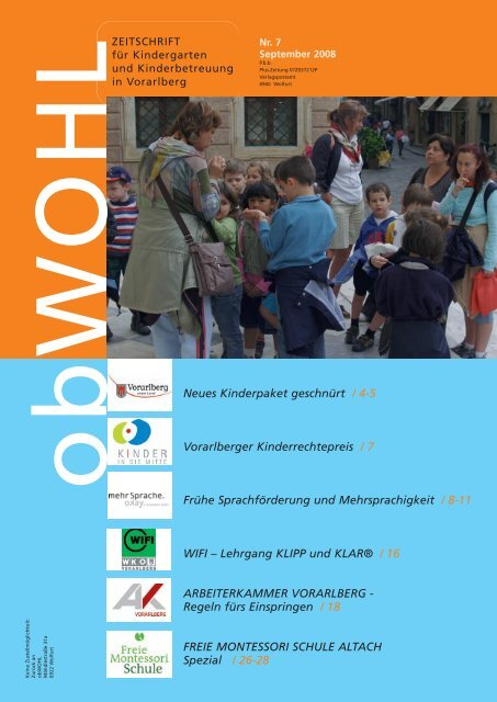 Neues Kinderpaket geschnürt / 4-5 Vorarlberger Kinderrechtepreis ...