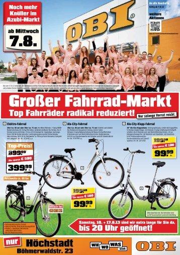 Top Fahrräder radikal reduziert - OBI Baumarkt Franken