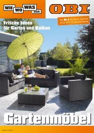 Frische Ideen für Garten und Balkon - OBI Baumarkt Franken