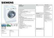 Siemens WM14E3WM Waschvollautomat Vorgänger ... - Obi