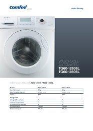 WASCHVOLL- AUTOMATEN TG60-12606L TG60-14606L - Obi