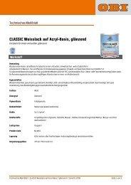 CLASSIC Weisslack auf Acryl-Basis, glänzend - Obi