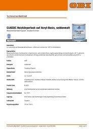 CLASSIC Heizkörperlack auf Acryl-Basis, seidenmatt - Obi