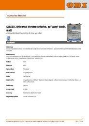 CLASSIC Universal Vorstreichfarbe, auf Acryl-Basis, matt - Obi