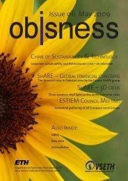 Issue 06. May 2009 - OBIS - ETH Zürich