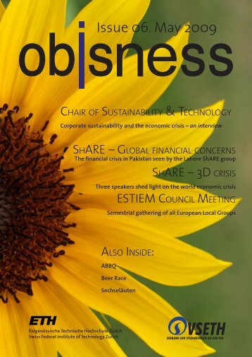 Issue 06. May 2009 - OBIS - ETH Zürich