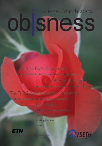 Issue 05. March 2009 - OBIS - ETH Zürich