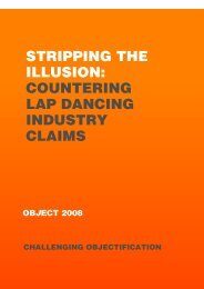 stripping the illusion: countering lap dancing industry claims - Object