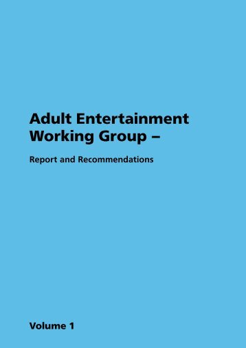 Adult Entertainment Working Group - Report and ... - Object