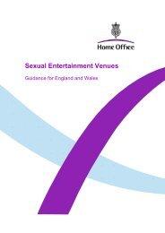 Sexual Entertainment Venues - Oxford City Council