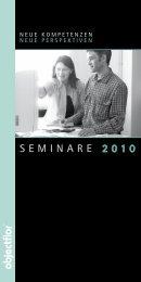 SEMINARE 2010 - Objectflor Art und Design Belags GmbH