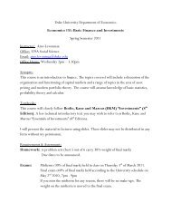ECON 151, Basic Finance/Investments, Aino Levonmaa