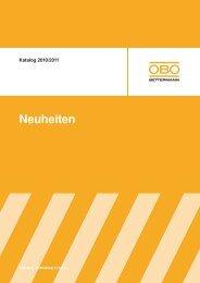 Neuheiten 2010 - BSS Brandschutz-Systeme - OBO Bettermann