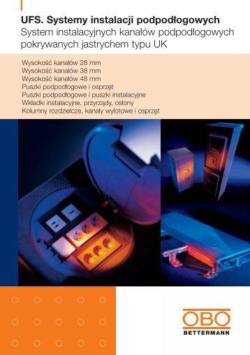 UFS. Systemy instalacji podpodłogowych ... - OBO Bettermann