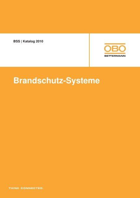 BSS   Funktionserhalt: Kabelrinnen - OBO Bettermann