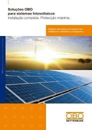 Soluções OBO para sistemas fotovoltaicos - OBO Bettermann