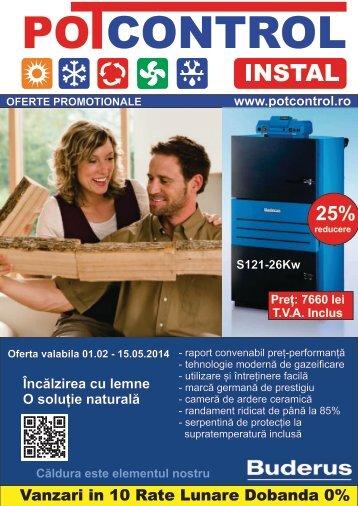 Oferte Promotionale centrale termice Buderus Potcontrol Instal