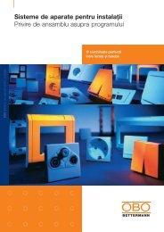 Sisteme de aparate pentru instalaţii - Privire de ... - OBO Bettermann