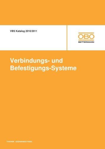 VBS Verbindungs- und Befestigungs-Systeme - OBO Bettermann
