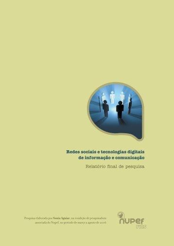 Redes sociais e tecnologias digitais de informação e comunicação ...