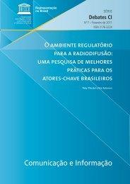 O ambiente regulatório para a radiodifusão - Observatório da ...