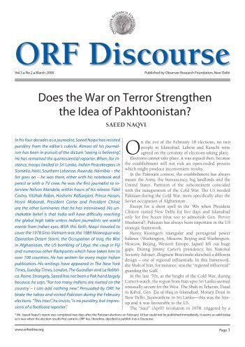 ORF Discourse - Observer Research Foundation