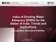 of Drinking Water Adequacy for the States of India