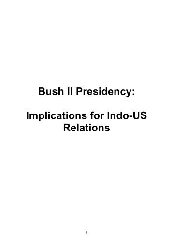 an overview of the bush administration Summary answer george w bush issued 161 signing statements affecting over 1,100 provisions of law in 160 congressional enactments during the bush administration, signing statements originated in the justice department and the office of management and budget.