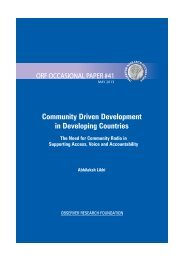 Community Driven Development in Developing Countries