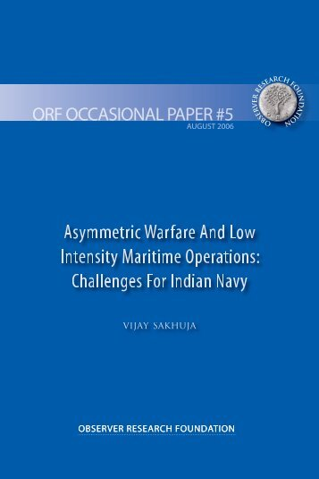Asymmetric Warfare And Low Intensity Maritime Operations